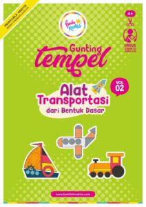 Lanjutan Printable Gunting Tempel Favorit! Transportasi Vol. 2